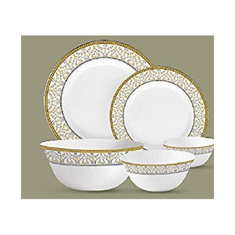 La opala Dinner Set 35pcs, Sovrana Moroccan Gold