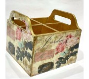 Cutlery holder Wooden - Roses
