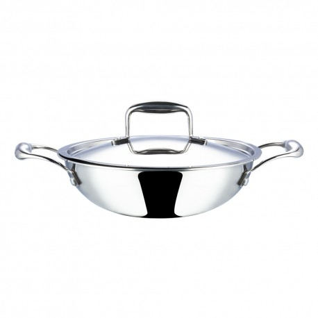 Vinod Platinum Kadai 22cm (With Lid/Induction-Friendly)