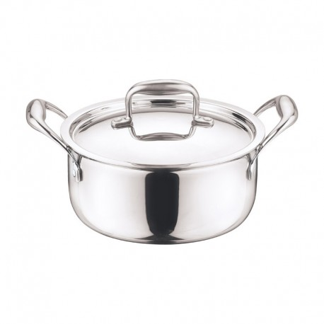 Vinod Platinum Sauce Pot 18cm (With Lid/Induction-Friendly)