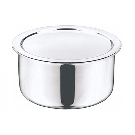 Vinod Platinum Tope 14cm(With Lid/Induction-Friendly)