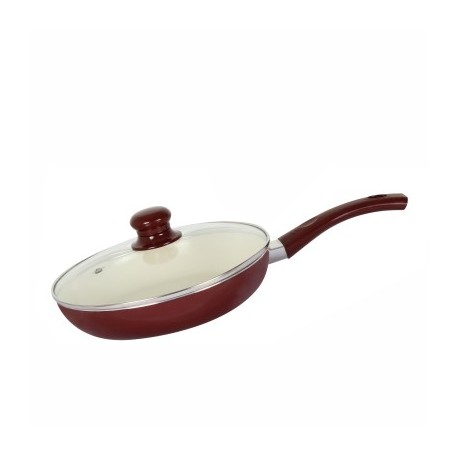 Alda Ceramic Coating Fry Pan 26 Cm With Glass Lid
