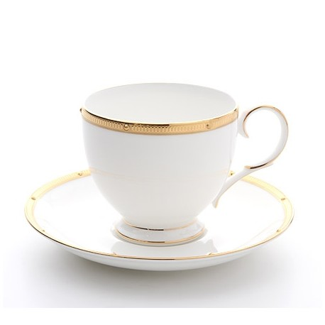 Noritake Cup Saucer Set of 6 (Rochelle Gold)