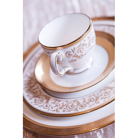 Noritake Cup Saucer Set of 6 (Summit Gold)