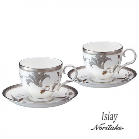 Noritake Cup Saucer Set of 6 (Islay Platinum)