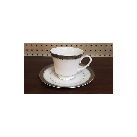 Noritake Cup Saucer Set of 6 (Signature Platinum)