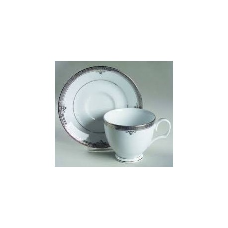 Noritake Cup Saucer Set of 6 (Buckingham Platinum)