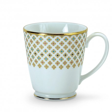 Noritake Milk Mug Set of 2, 370ml (Paisley Garden)