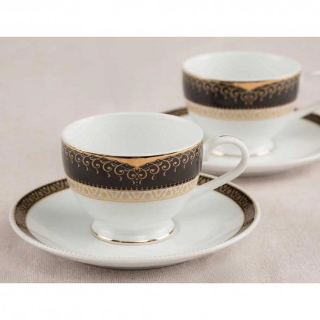 Noritake Cup & Saucer Set of 12Pcs, 215ml(Monarch Gold)