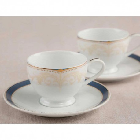 Noritake Cup & Saucer Set of 12Pcs, 215ml(Royal Palace)