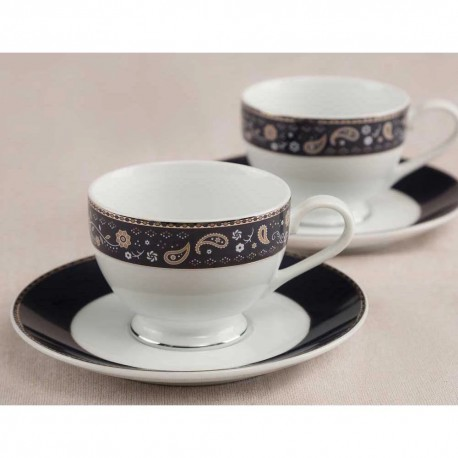Noritake Cup & Saucer Set of 12Pcs, 215ml(Royal Fountain)