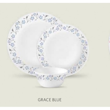 La opala Diva Dinner Set 27Pcs ( Grace Blue)