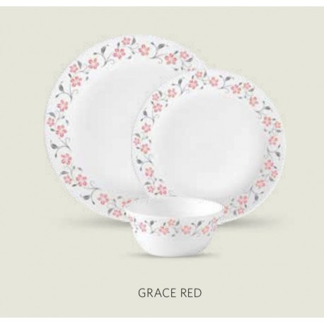 La opala Diva Dinner Set 27Pcs ( Grace Red)