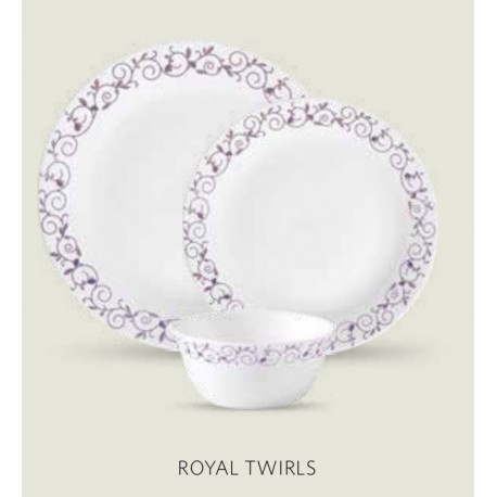 La opala Diva Dinner Set 27Pcs ( Royal Twirls)