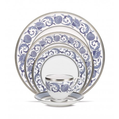Noritake Bone China Dinner Set Islay Platinum 21Pcs (4897)
