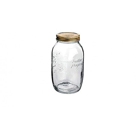 Bormioli Rocco Quattro Jar 1000ml(pack of 2)