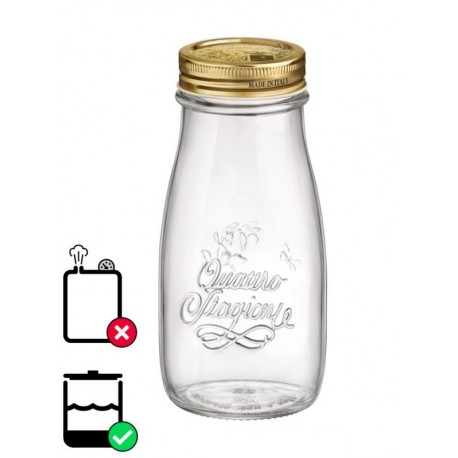 Bormioli Rocco Quattro Jar 200ml(pack of 4)