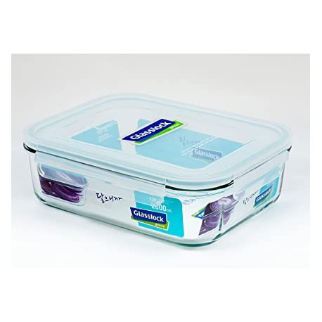 Glasslock Tempered Food Container 2000ml
