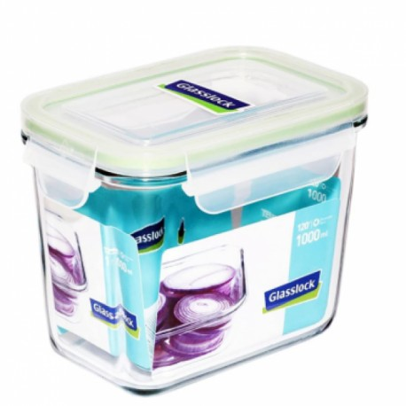 Glasslock Temepred Food Container 1000ml - Vertical