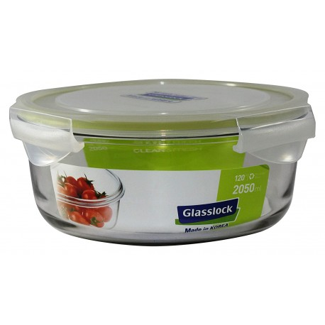 Glasslock Tempered Food Container 2050ml - Round