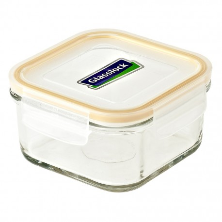 Glasslock Tempered Food Container 490ml - Square