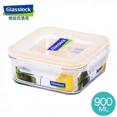 Glasslock Tempered Food Container 950ml - Square