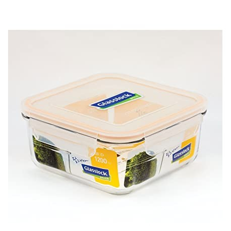 Glasslock Tempered Food Container 1200ml - Square