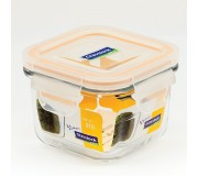 Glasslock tempered Food Container 210ml - Square (Pack of 2)