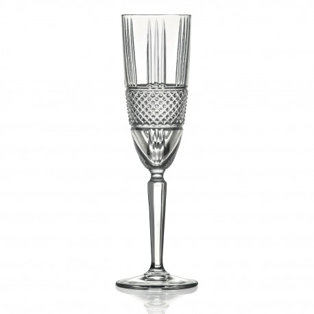 RCR Brilliante Flute Goblet, 190ml- Set of 6