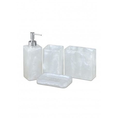 Obsessions Spaze Bathroom Set - pearl