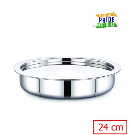 Maxima Shallow Tope Triply Steel 24cm