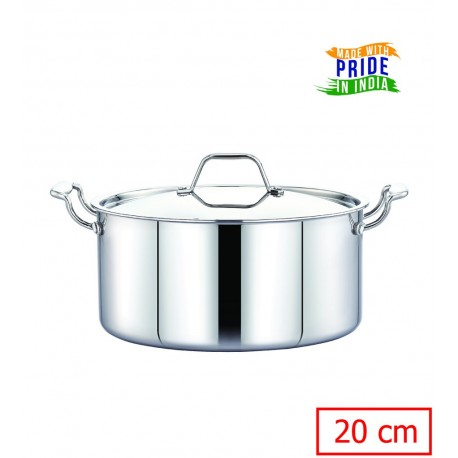 Maxima Triply Stainless Steel Saucepot 20cm