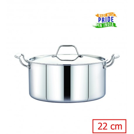Maxima Triply Stainless Steel Saucepot 22cm