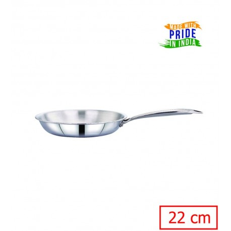 Maxima Triply Stainless Steel Frypan 22cm