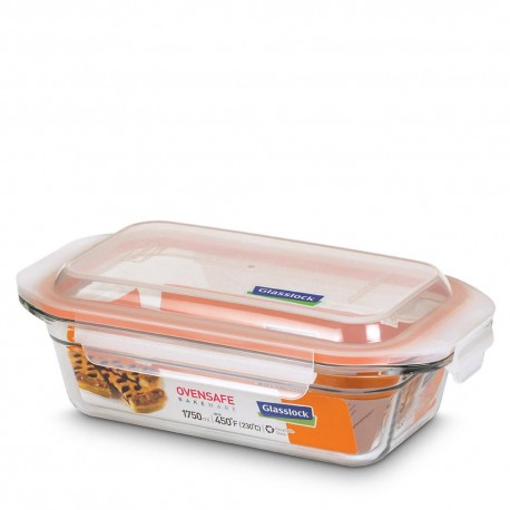 Glasslock Tempered Food Container 1750ml- Rect