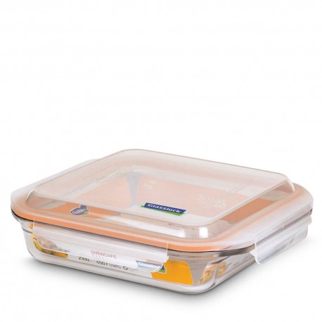 Glasslock Tempered Food Container 2100ml- Rect