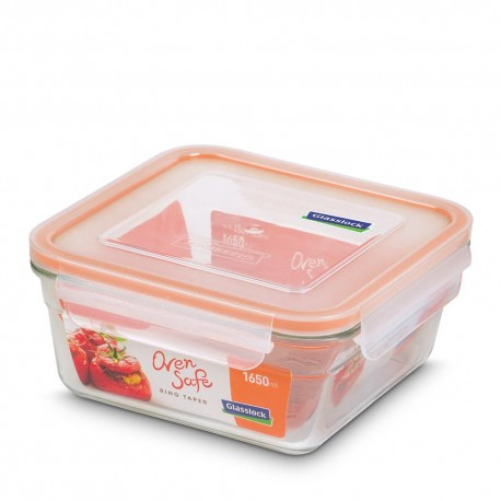 Glasslock Tempered Food Container 1650ml- Rect