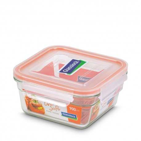 Glasslock Tempered Food Container 900ml- Rect