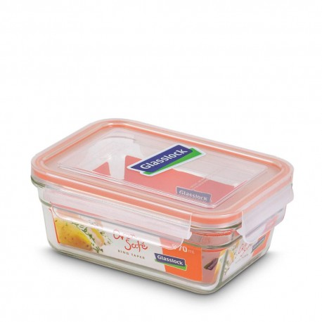 Glasslock Tempered Food Container 970ml- Rect