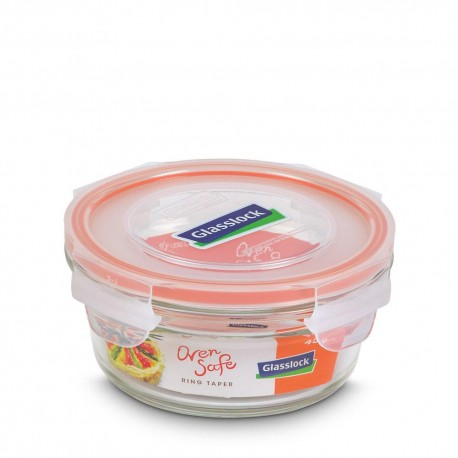 Glasslock Tempered Food Container 450ml- Rect