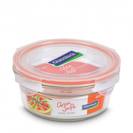 Glasslock Tempered Food Container 850ml- Rect