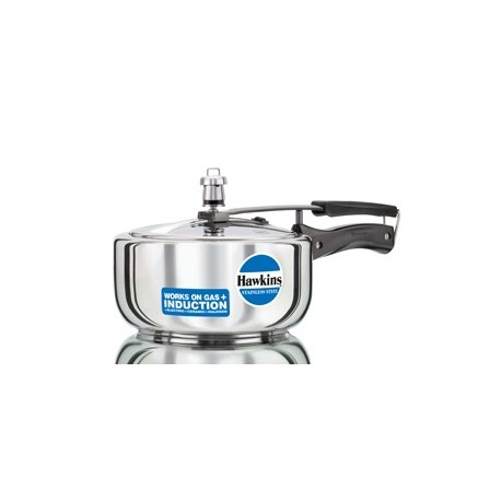 Hawkins Pressure Cooker Stainless Steel 3 litre (Induction Compatible)