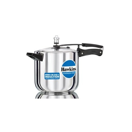 Hawkins Pressure Cooker Stainless Steel 6 litre (Induction Compatible)