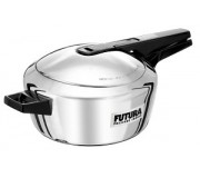 Hawkins Pressure Cooker Futura Stainless Steel  4 Litre (Induction Compatible)