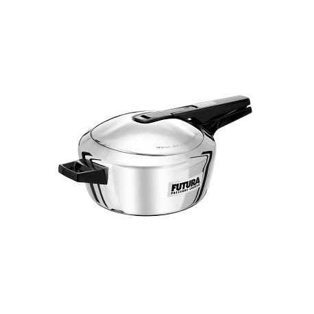 Hawkins Pressure Cooker Futura Stainless Steel (Induction Compatible)