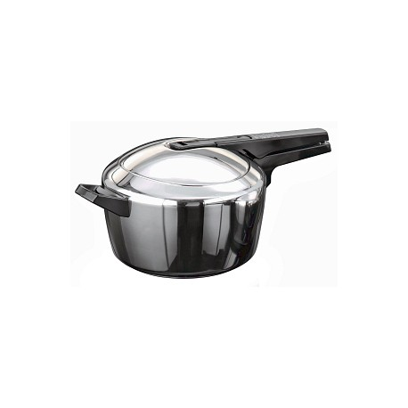 Hawkins Pressure Cooker Futura  Stainless Steel 5.5 Litre  (Induction Compatible)