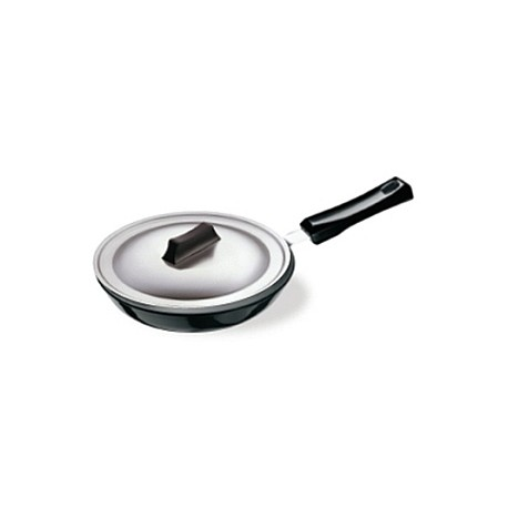 Futura Hard Anodised Frying Pan 22 cm  ( with stainless steel lid )