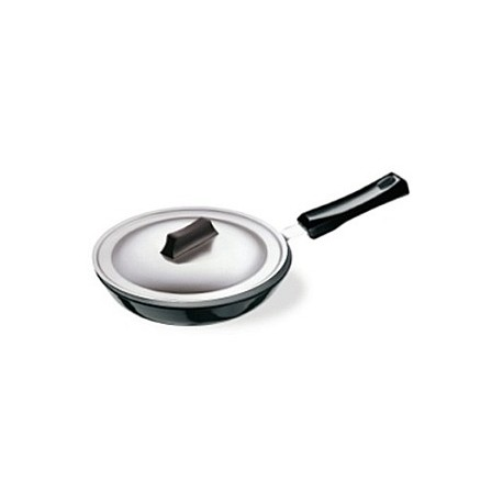 Futura Hard Anodised Frying Pan 25 cm  (with stainless steel lid )