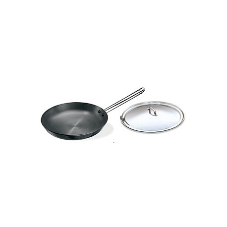 Futura Hard Anodised Frying Pan 30 cm with stainless steel lid