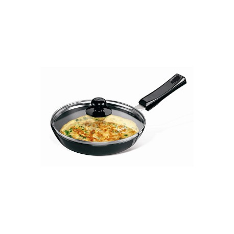 Futura Hard Anodised Frying Pan 22 cm ( With Glass Lid)